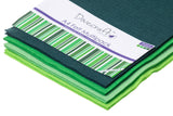 A4 craft felt multipack in green tones. 2 sheets of 4 colours.