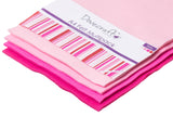 A4 Dovecraft multipack of pink art and craft felt. Bright pink to pale pink, 4 colours.