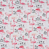 Flamingos - 100% Cotton Poplin Fabric by Rose & Hubble