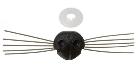 Soft Toy / Animal Toy Black Nose with Whiskers - European Safety Standards