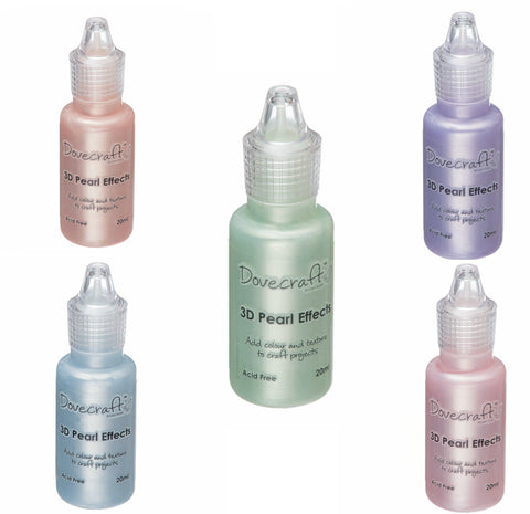 Dovecraft Pearl Effects - Liquid Pearls in 7 shimmering PASTEL shades