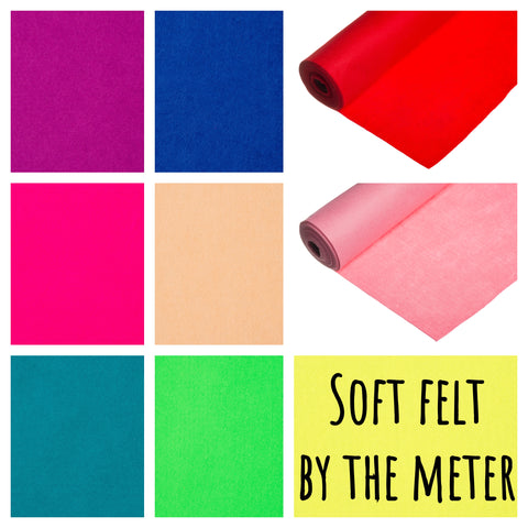 Super Soft Craft Felt Fabric By The Metre- 48 colours