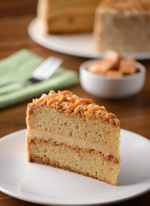 Double Caramel Crunch Cake