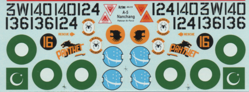 G-003 Generic Decals. Nanchang A-5 Pakistan