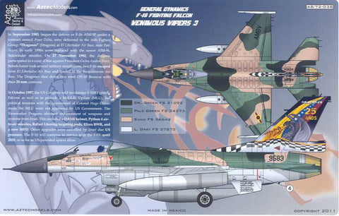 D32-003 F-16. Venezuelan Air Force. Special Scheme