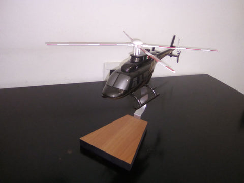 "Bell 206 L ""Long Ranger"" woodcraft desktop model"
