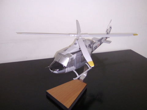Bell 412 EP FAM woodcraft desktop model