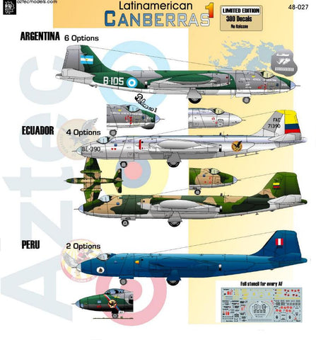 D48-027 BAE Canberra. Latinamerican Service Part 1
