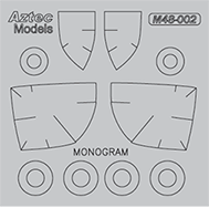 M48-002 A-37B Dragonfly Mask. Monogram