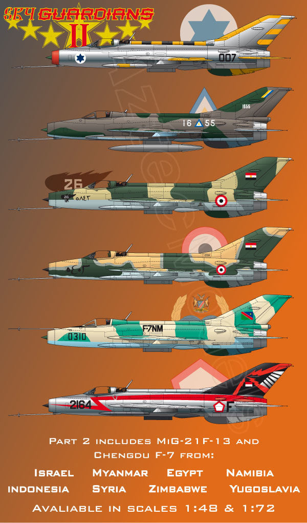 D-052 Sky Guardians (MiG-21F-13 and Chengdu J-7) Part II