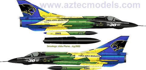 D-3204 Mirage III EB. Brazilian  Air Force. Special Scheme
