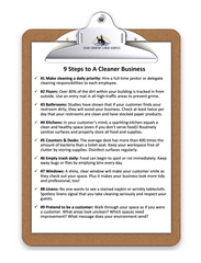 9 steps to a cleaner business