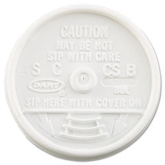 Sip Thru Lids, Fits 6-10oz Cups, White