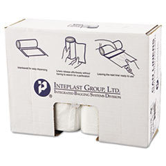 High-Density Can Liner, 38 x 60, 60-Gallon, 17 Micron, Clear, 25/Roll
