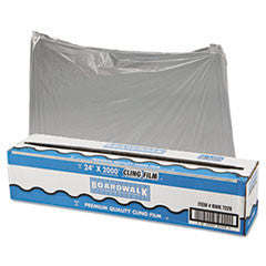 "PVC Food Wrap Film Roll, 24"" x 2000 ft, Clear"