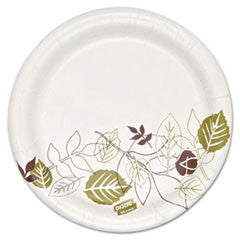 "Pathways Heavyweight Paper Plates, 5 7/8"" dia, Multilayer Design,"