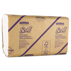 SCOTT C-Fold Paper Towels, 10 1/8 x 13 3/20, White