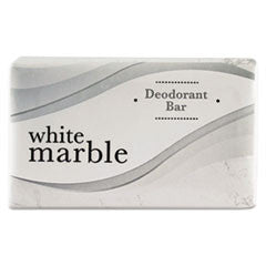 Deodorant Soap Bar, Individually Wrapped, White, 0.75 oz. Bar