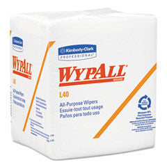 L40 Cloth-Like 1/4-Fold Wipes, 12 1/2 x 12