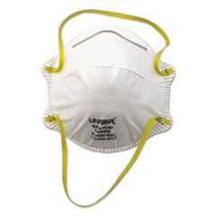 Disposable Dust and Mist Respirator, White w/Yellow Straps
