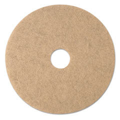 Ultra High-Speed Natural Blend Floor Burnishing Pads 3500, 19-Inch, Natural Tan