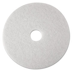 Low-Speed Super Polishing Floor Pads 4100, 24-Inch, White