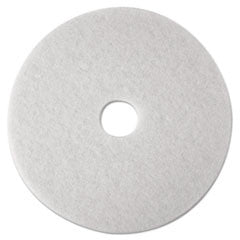 Ultra High-Speed Natural Blend Floor Burnishing Pads 3300, 21-in, Natural White