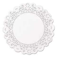 "Brooklace Lace Doilies, Round, 5"", White"