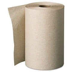 Unperforated Paper Towel Rolls, 7-7/8 x 350', Brown