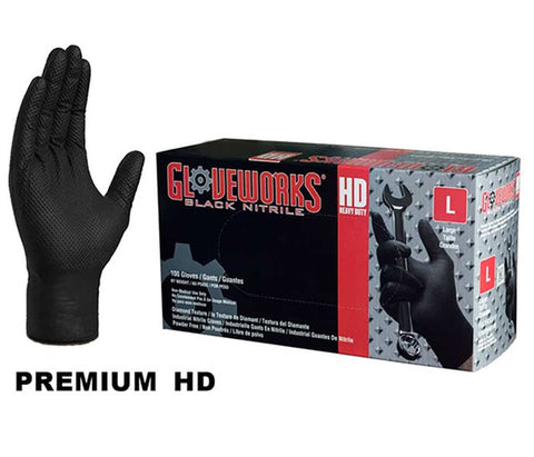 Disposable HD Black Nitrile Glove