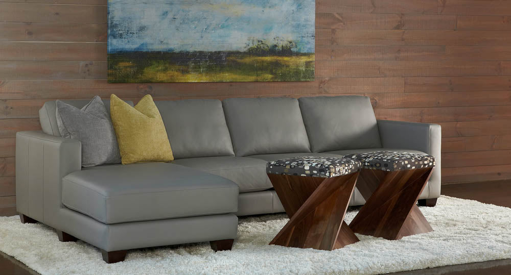 Alessandro American Leather Sofa with Wood Leg - Artesanos Design Collection