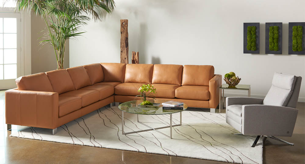 American Leather Alessandro Sectional Sofa at Artesanos Design Collection