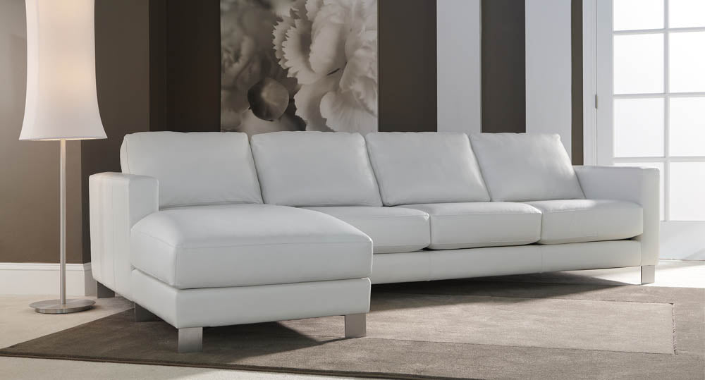 Alessandro Modern Sectional Sofa with Chaise by American Leather