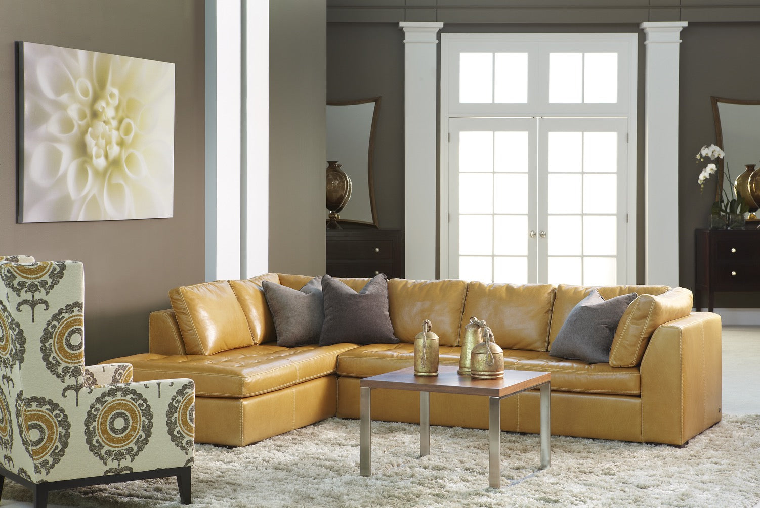 Astoria Leather Sofa by American Leather