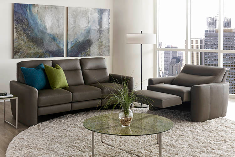 Chelsea Recliner Style in Motion Furniture by American Leather