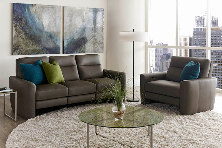 Chelsea Style in Motion Sofa and Chair by American Leather