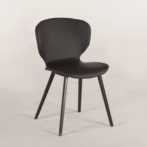Retro Dining Chair - Black