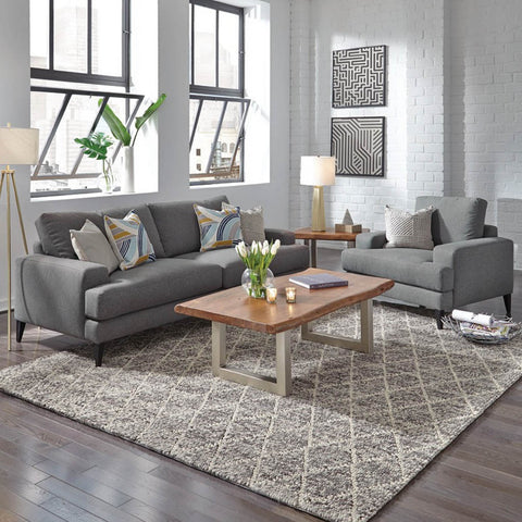 Manhattan Sofa by Classic Home in Grey Upholstery