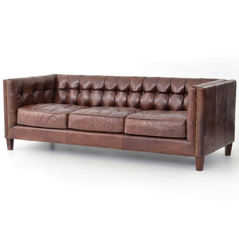Conrad Sofa - Antique Brown Leather