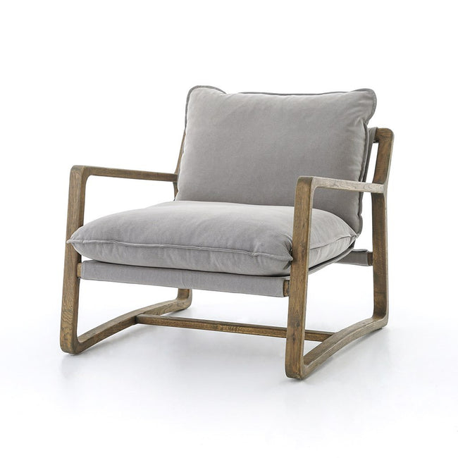Ace Accent Chair Robson Pewter by Four Hands