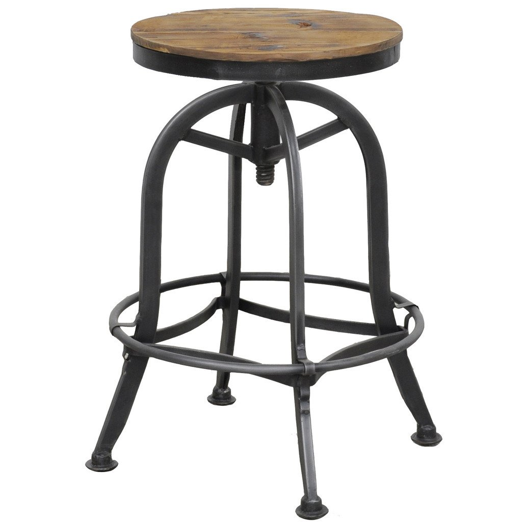 Akron Industrial Stool With Adjustable Height
