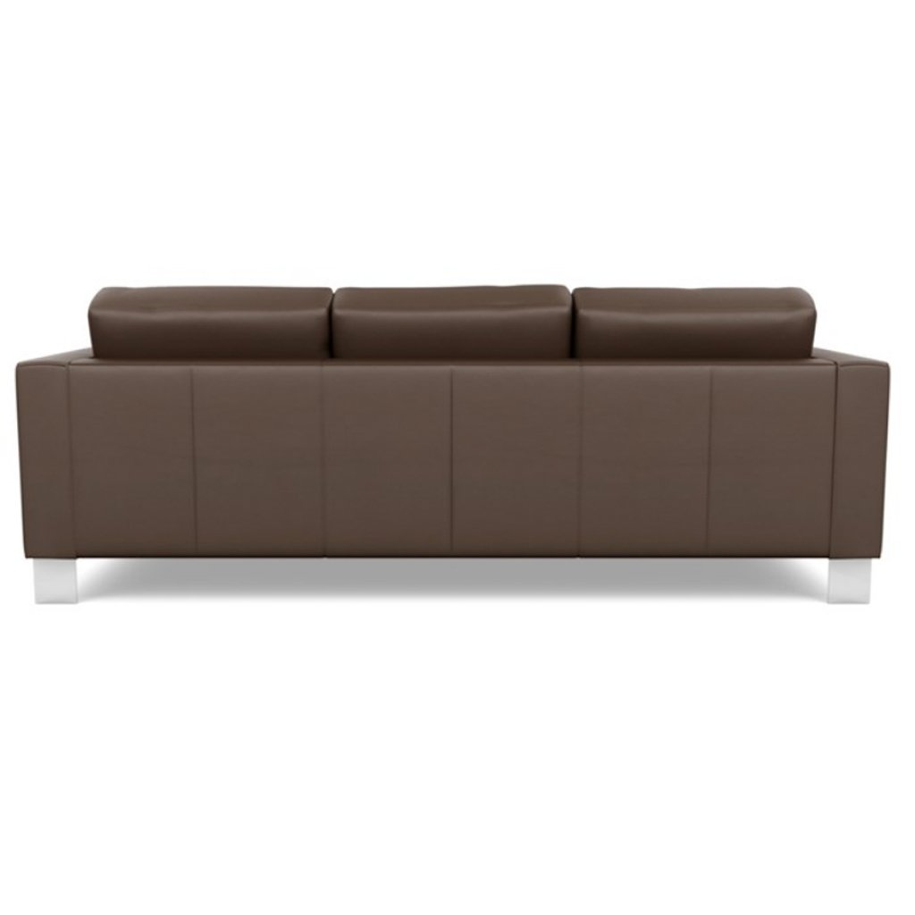 Alessandro Leather Three Seat Sofa Back View