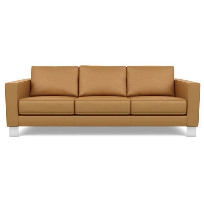 Bali Brandy - Alessandro Three Seat Leather Sofa
