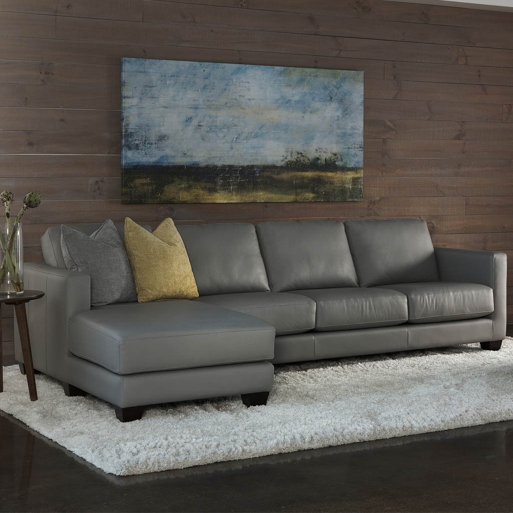 Alessandro Leather Sofa Sectional by American Leather