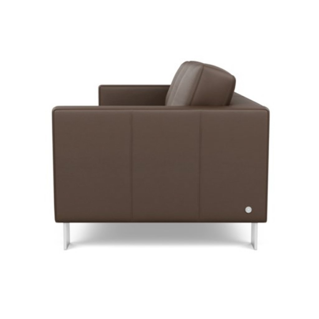 Alessandro Leather Sofa by American Leather Side view