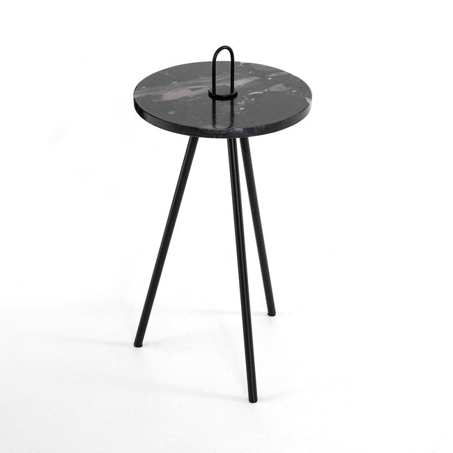 Alva Black Marble Accent Table Four hands