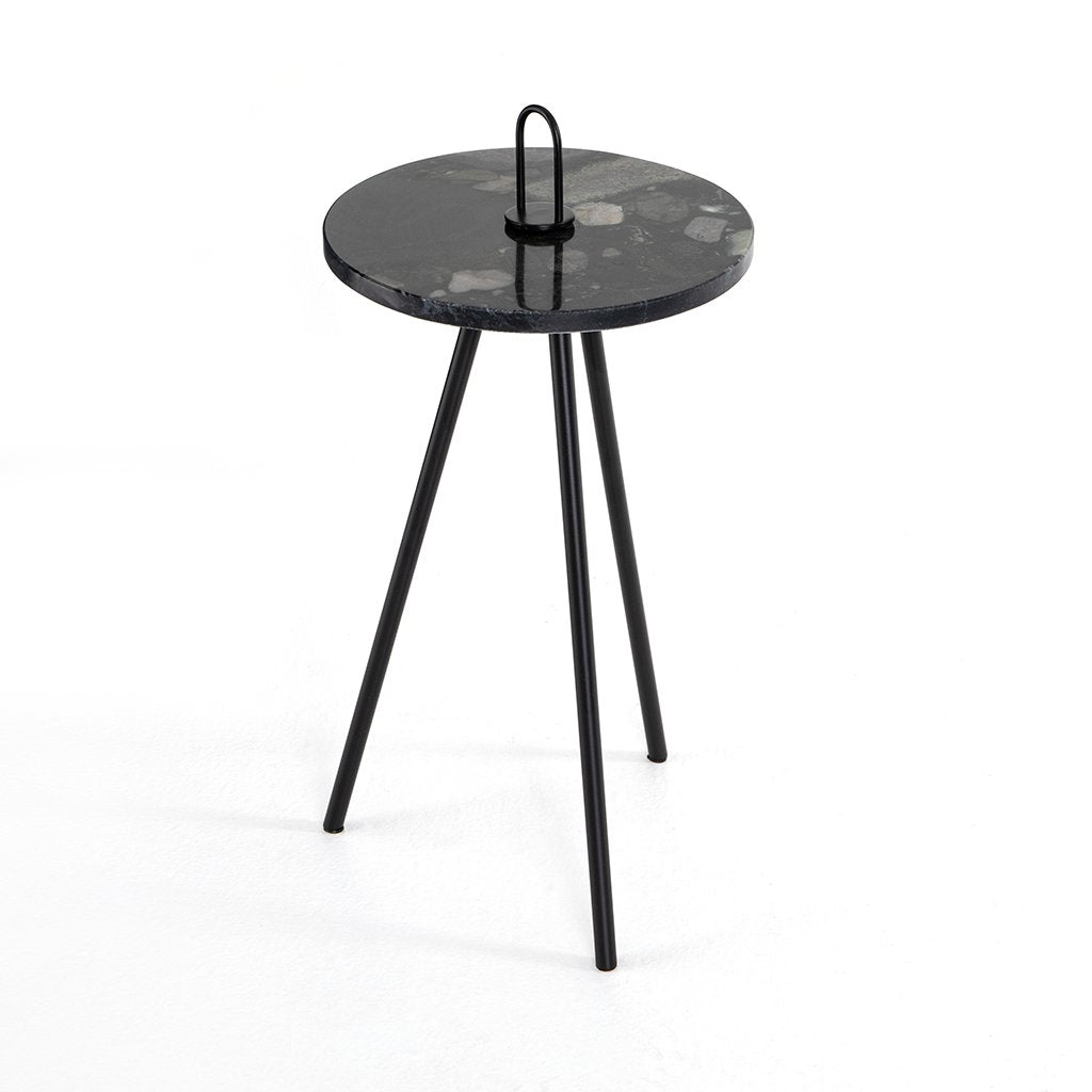 Alva Black Marble Accent Table Four Hands Furniture