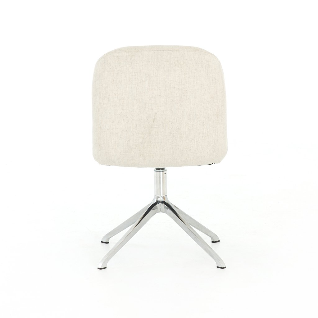 Amber White Desk Chair - Savile Flax CASH-136-084P