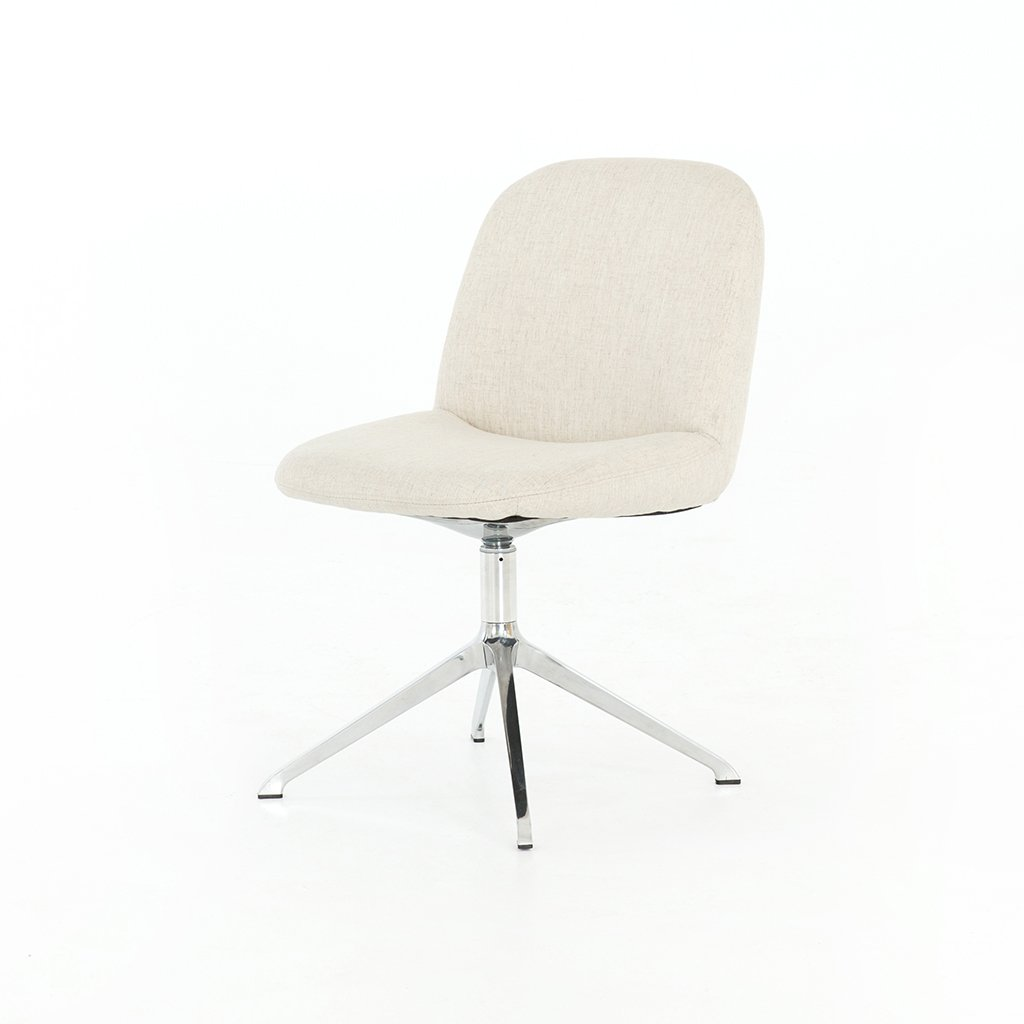 Gentil Amber White Desk Chair   Savile Flax CASH 136 084P ...