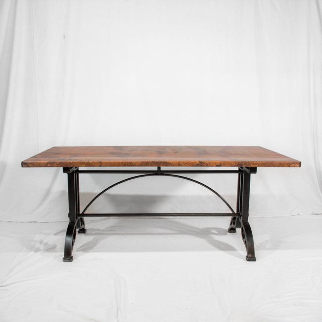 Amherst Copper & Iron Dining Table